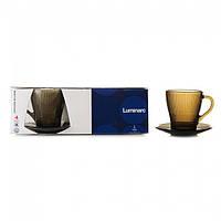 Набор чайный Luminarc Louison Eclipse чашки 200мл с блюдцами (4 предмета)