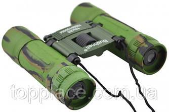 Складной бинокль Bushnell 10x25 с чехлом Зеленый (LS1010053846)