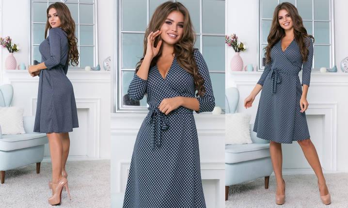 Платье женское декольте на запах трикотажное, фото 2