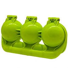 Снежколеп тройной для песка и снега Kronos Toys 18.5х9.5х6.5 см Зеленый