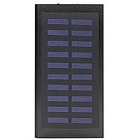 Power bank Xiaomi 20000 mAh Black c солнечной панелью для зарядки смартфона планшета портативный (Реплика)