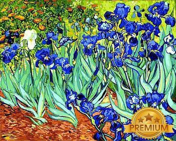 Картина по номерам 40×50 см. Babylon Premium (цветной холст + лак) Ирисы Художник Винсент Ван Гог (NB 501)
