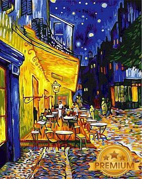 Картина по номерам 40×50 см. Babylon Premium (цветной холст + лак) Ночное кафе Художник Винсент Ван Гог (NB 504)
