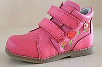 Кожаные ботинки на девочку, детская демисезонная обувь, ортопедия, акция Том.м р.20