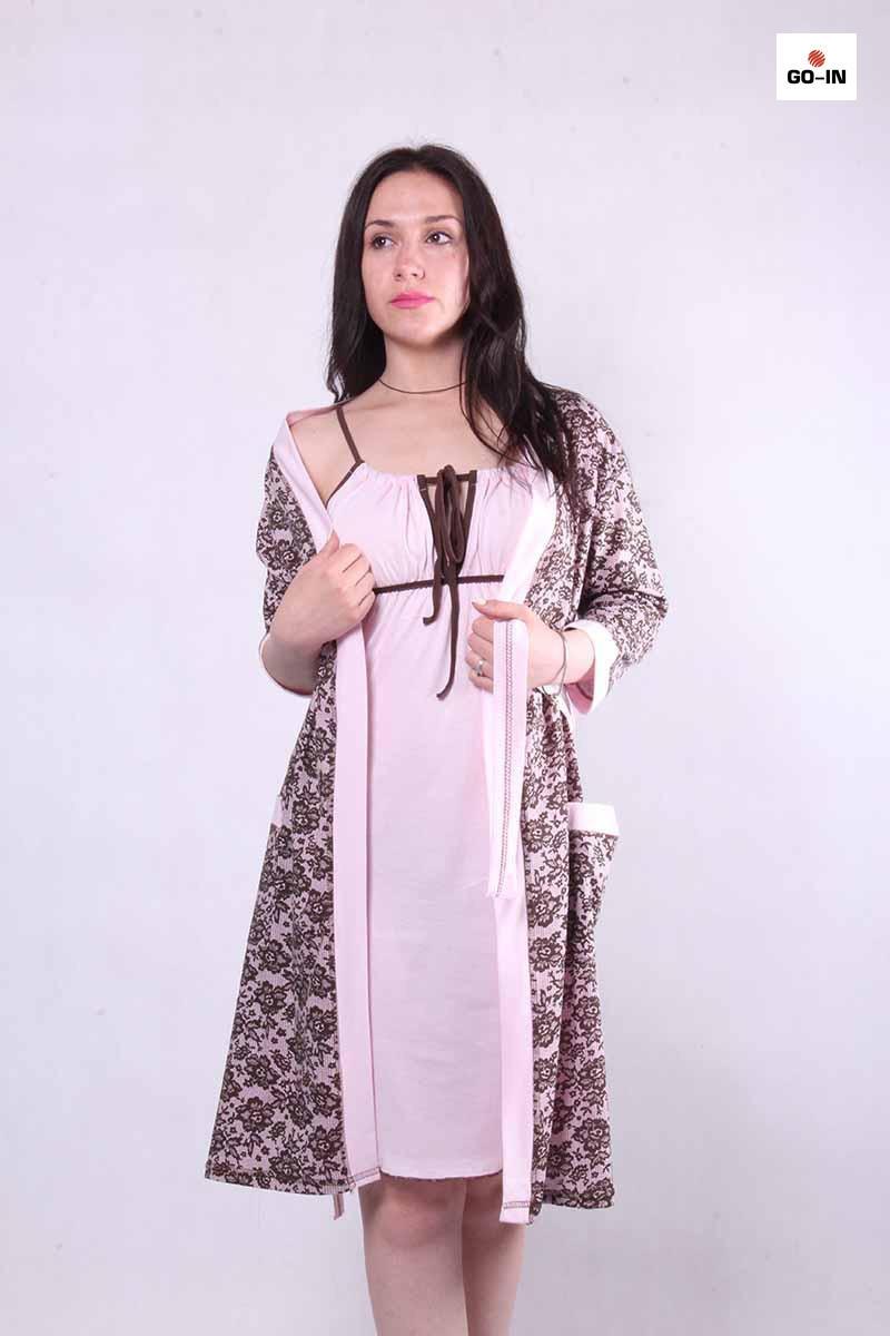 Женский комплект халат с ночной р.42-54