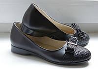 Туфли школьные кожаные для девочки р.30, 35 (балетки, лодочки, туфельки)