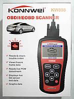 Автомобильный диагностический сканер Konnwei KW808 OBD II/EOBD, фото 1