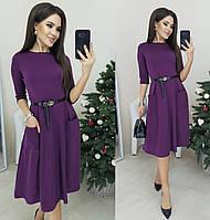 Классическое платье-миди с карманами