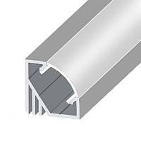 КОМПЛЕКТ!!! Профиль LED BIOM угловой ЛПУ17 + рассеиватель матовый, (алюминий НЕанодированный + поликарбонат).