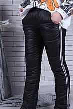 Штаны для девочки зимние р. 134-164 опт черные
