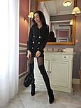 Женское шикарное модное  платье-пиджак на пуговицах черное или белое, фото 5