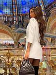 Женское шикарное модное  платье-пиджак на пуговицах черное или белое, фото 6