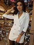 Женское шикарное модное  платье-пиджак на пуговицах черное или белое, фото 3