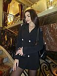 Женское шикарное модное  платье-пиджак на пуговицах черное или белое, фото 7