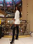 Женское шикарное модное  платье-пиджак на пуговицах черное или белое, фото 8