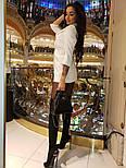 Женское шикарное модное  платье-пиджак на пуговицах черное или белое, фото 9
