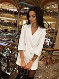Женское шикарное модное  платье-пиджак на пуговицах черное или белое, фото 2