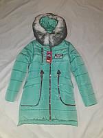 Пальто зимнее для девочки Николь