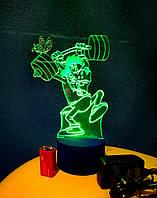 3d-светильник Волк (Ну, погоди), 3д-ночник, несколько подсветок (батарейка+220В)