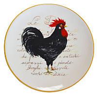 Тарелка подставная Италия Ceramica Cuore Нарядный петушок 30,5 см рис-2