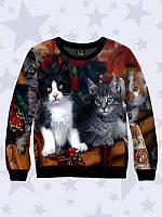 Свитшот детский Рождественские коты