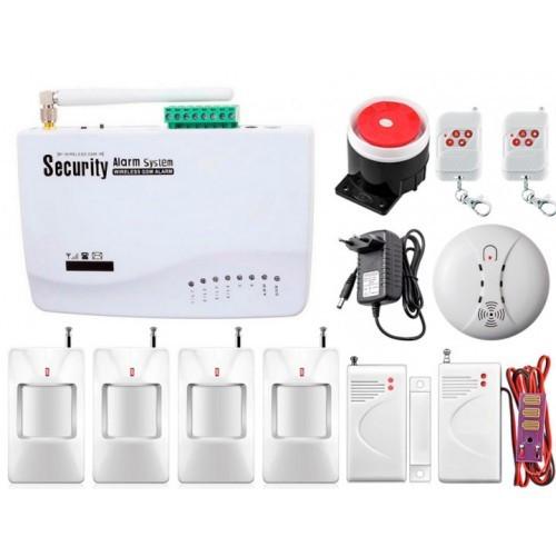 Безпровідна GSM сигналізація для будинку, дачі, гаража комплект Kerui alarm G01 (Profi 4) 433мГц! Гарантія 24мес