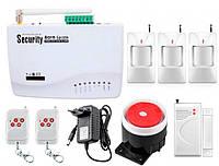 Беспроводная GSM сигнализация для дома, дачи, гаража комплект Kerui alarm G01 (House 3) 433мГц