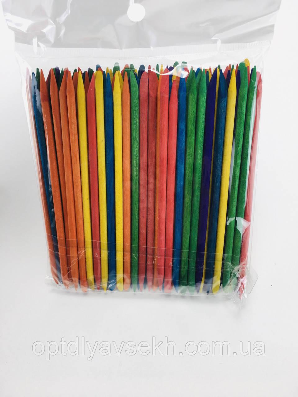 Апельсинові палички (різнокольорові) - упаковка 100 шт. 11.5 см