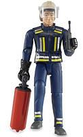 Игрушка - фигурка пожарника, 11см + аксессуары