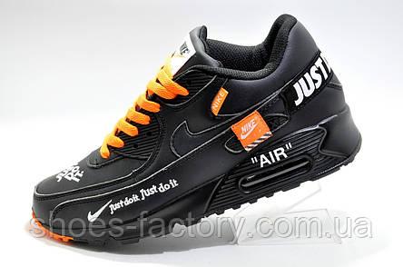 Мужские кроссовки в стиле Nike Air Max 1 Just Do It, Black\Orange, фото 2