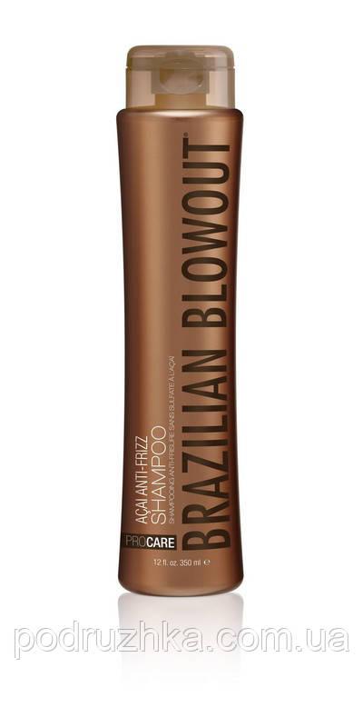 Разглаживающий шампунь для волос Brazilian Blowout Anti-Frizz Shampoo, 350 мл
