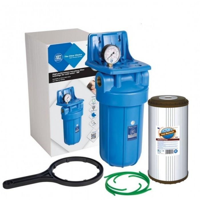 Aquafilter FH10B1-B-WB + Aquafilter FCCFE10BB для удаления железа