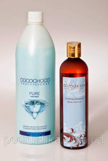 Набор для кератинового выпрямления волос Cocochoco Pure, 1000 мл + 400 мл