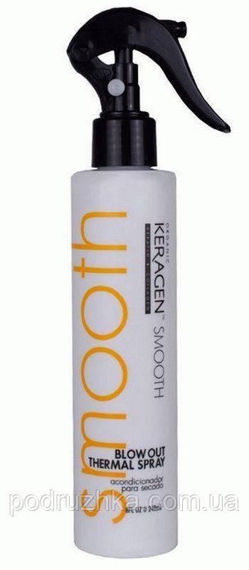Несмываемый спрей-кондиционер для волос Organic Keragen Blow Out Thermal Spray