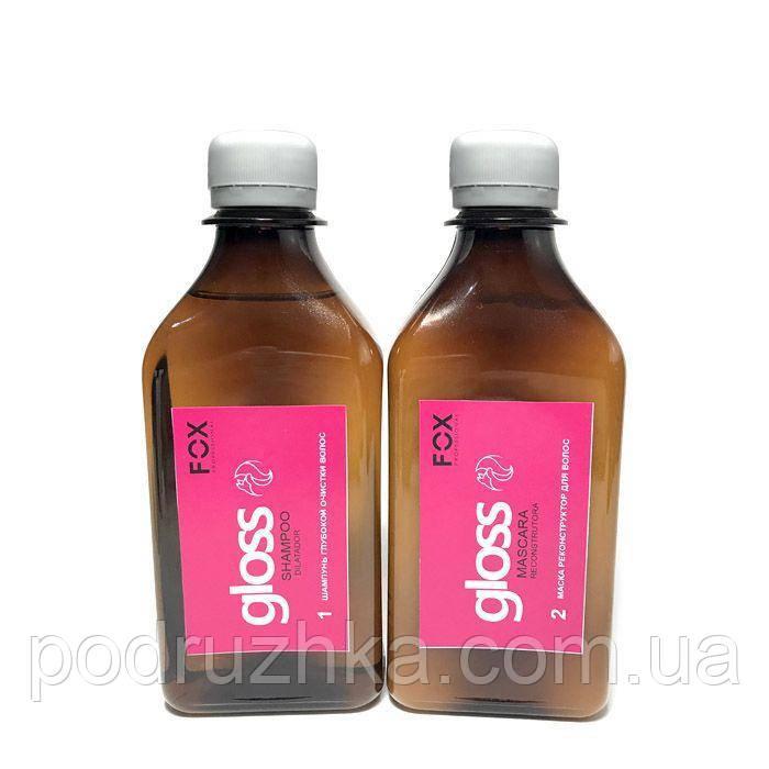 Fox Gloss Набор для кератинового выпрямления волос 2х250 мл