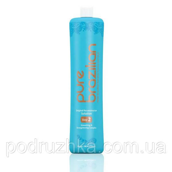Cостав для кератинового выпрямления волос Pure Brazilian Original Reconstructor Solution, 1000 мл
