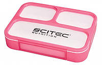 Food Container Scitec Nutrition Pink (1000 мл. + 3 секции) - Розовый