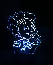 3d-світильник Нулик (фиксики), 3д-нічник, кілька підсвічувань (на батарейці)
