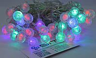 Светодиодная гирлянда Прозрачные Шарики 40шт 6м 220V Микс (40PLASTIC-M3), фото 1