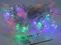 Светодиодная гирлянда Колокольчики 40шт 6м 220V Микс (40PLASTIC-M4), фото 1