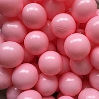 Шарики для сухого бассейна светло-розовые 8 см поштучно