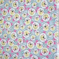 Ткань мебельная серая светлая с белыми мишками ш.150 ( 20402.001 )