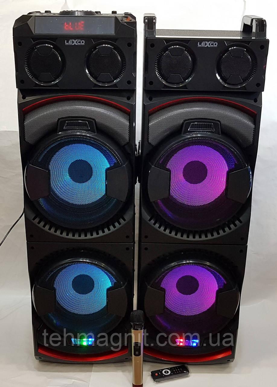 Комплект акустики LEXCO DPL-2100 с радиомикрофоном / 400W (USB/FM/Bluetooth)