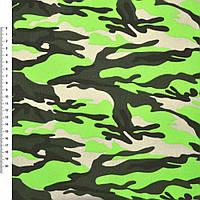 "Деко-котон бежевий салатово-зелений ""камуфляж"" ш.150 (20405.018)"