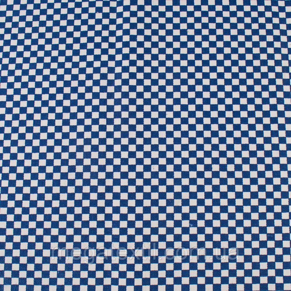 Деко-котон синьо-біла шахматка 6мм, ш.150 (20405.031)