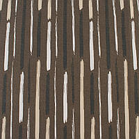 Деко-котон коричневий в білі, бежеві, чорні широкі штрихи, ш.150 (20405.049)
