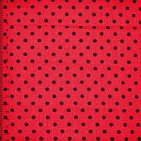 Деко-котон червоний в чорний горох ш.150 (20405.104)