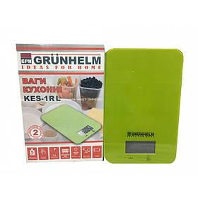 Весы кухонные Grunhelm KES-1RL  зелёные