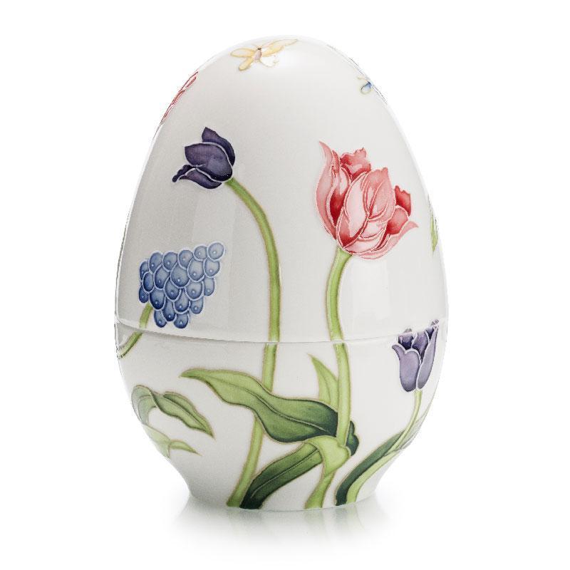Шкатулка-яйце Італія Palais Royal Квіти 18 х 13 см