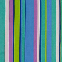 Деко-котон салатово-сині, бузково-білі смужки ш.150 (20406.010)